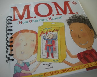 M.O.M. Mom Operating Manual Recycled Journal Notebook