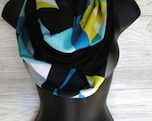 Fashion Infinity Scarf: Bold Cool Colors