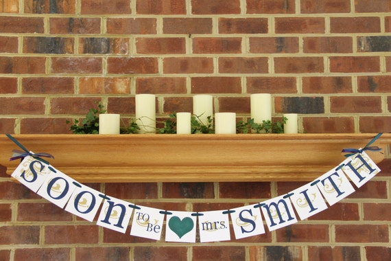 Bridal Shower Decorations Bridal Shower Banners Soon To Be Mrs. Banner Bachelorette CUSTOMIZE YOUR COLORS