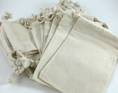 25 Medium Cotton Muslin Bags Pouches (4 by 6 inch) for Jewelry, Earrings, Rings, Pendants, Gift Bag