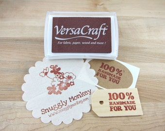 Brown Stamp Pad | Versacraft Stamp Ink Pad for Paper, Wood, Fabric, Etc. - Chocolate Brown