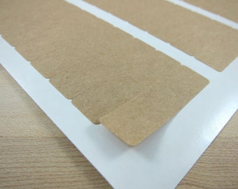 "Small Rectangular Kraft Stickers Brown Kraft Labels - 1.75"" long x 0.5"" wide - Return Address Label"