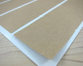 "2 inch Square Brown Kraft Labels - 2""x2"" Blank Kraft Stickers - DIY Labels"