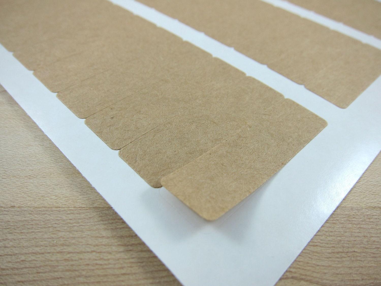 small rectangular kraft stickers brown kraft labels