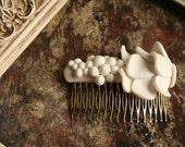 "Bride back comb ""Flowers"""