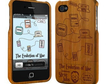 Evolution of Mac - Bamboo Wooden iPhone 7 Case