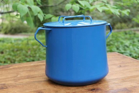 Dansk Kobenstyle Enamel Stock Pot Blue
