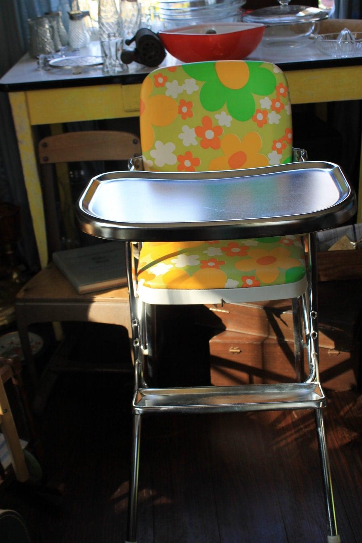Mod Retro High Chair Chrome Cosco Highchair Orange And
