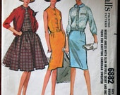 McCall's 6882 Size 12 Bust 32 Vintage Dress Pattern  with instructions for knitting cardigan sweater