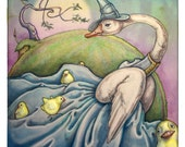 Greeting Card: Mother Goose