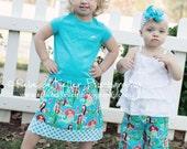 Banded Skirt in Michael Miller Sea Beauties