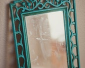 Turquoise Vintage Mirror