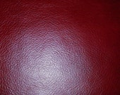 """Deep Dark Red (almost Burgundy) Cowhide Leather Hide 6.5""""x8.5"""" 1mm thick (287)"""