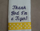 LSU Burp Cloth