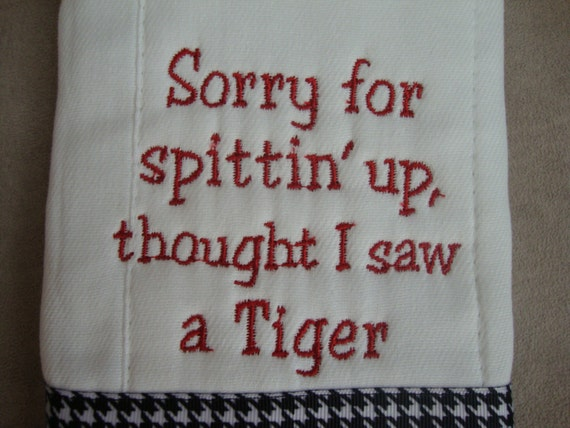 Crimson Tide Burp Cloth