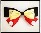 Mickey Mouse Inspired Hair Bow Ribbon