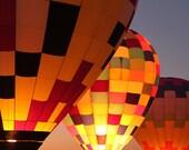 Hot Air Balloons at Night 8X10 Print