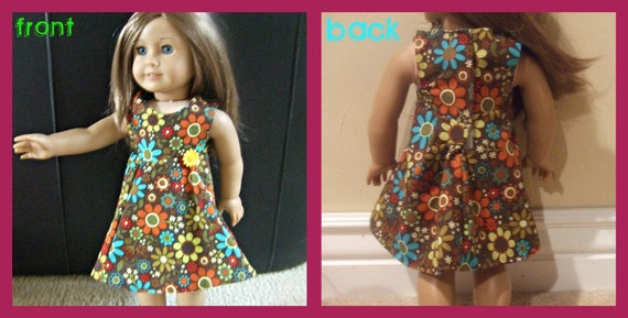 1970's Jumper/Dress For American Girl and Similar 18 inch Dolls-SALE PRICE