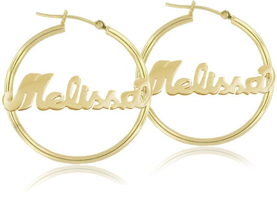 personalized name hoop earrings personalized handmade hoop earrings order any by 9201