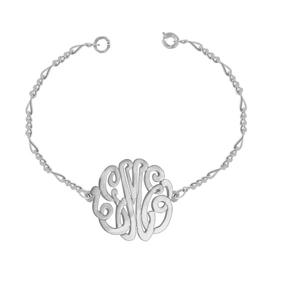 Designer Personalized Initials Bracelet (Order Any Initials) - Sterling Silver