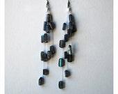 long dangly earrings,  stone dangle earring  ,gem stone earrings ,long earrings , elagant earrings, earrings, beaded dangly earrings