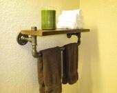 Towel Rack Pipe Shelf