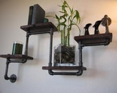 The ORIGINAL Four Tier Walnut Pipe Shelf