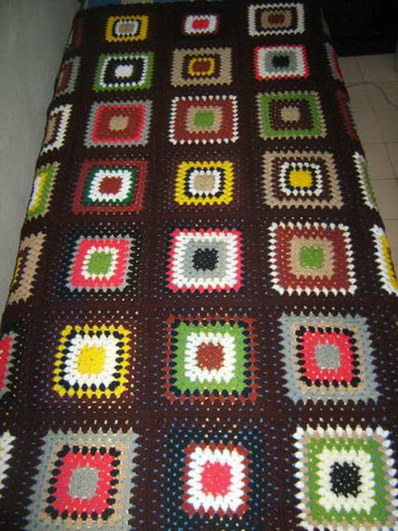 Multicolor blanket / granny square blanket   / Ready to ship