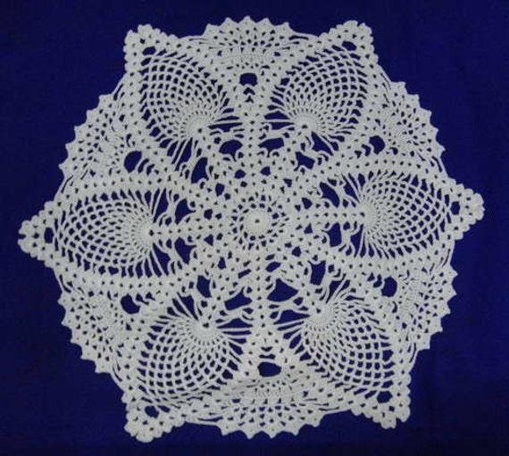 Doily / Crochet doily / Flower round doily / Lace doily  No. ND-01