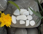 Milk Bottle Glass Authentic Sea Glass 10 Pieces Can Be Drilled