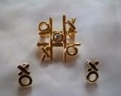 Vintage Anne Klein Brooch KOREA ear rings tic tac toe