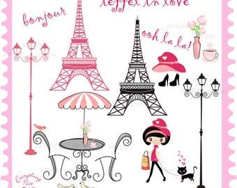 I love Paris Clip Art  Set