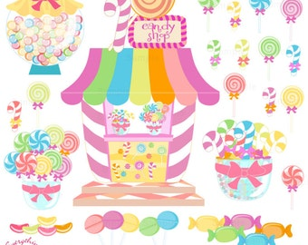 Candy Land, Candy Shop Clip Art Set