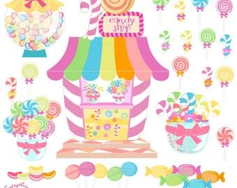 Candy Land, Candy Shop Clip Art Set