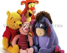 50% OFF Sale! Winnie the Pooh Tigger Eeyore Piglet Pattern 4 in 1 Set Pattern Amigurumi Pattern: INSTANT DOWNLOAD