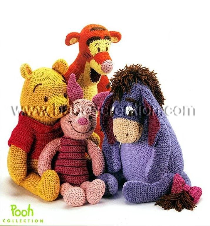Amigurumi Winnie The Pooh : Pooh and Friends Amigurumi Pattern