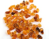 Loose Baltic amber beads 88 psc. Honey color