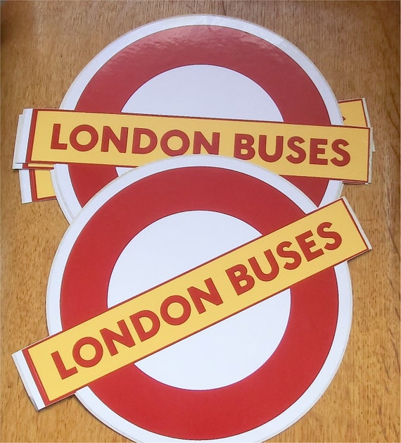 Vintage London Bus roundel vinyl sticker