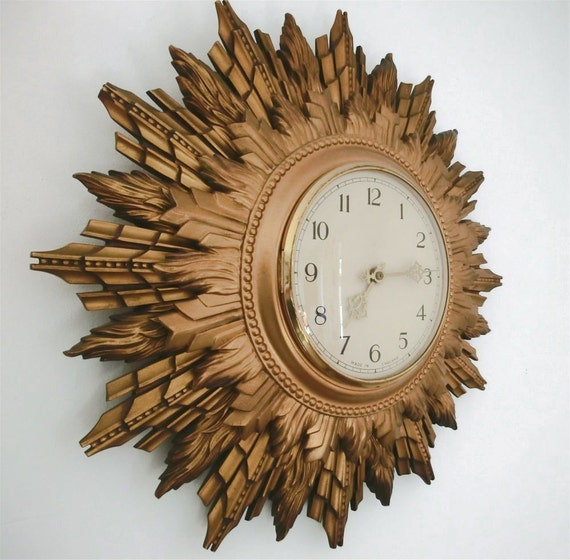 Starburst Smiths vintage clock upcycled 'Shanklin'