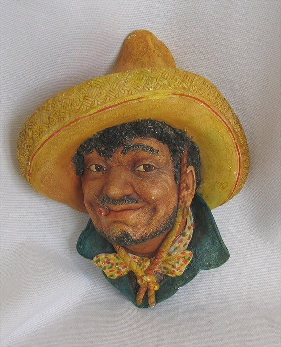 50s Bossons Pancho wall head plaque