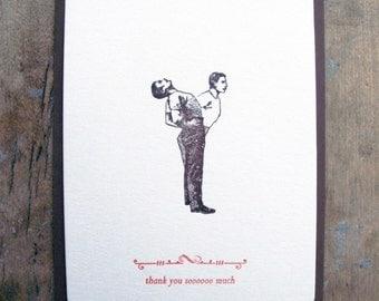 Thank you sooooo much - Letterpressed postcard