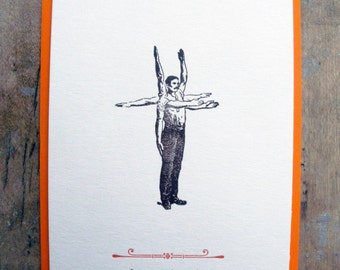 The party.... it's over there - Letterpressed postcard