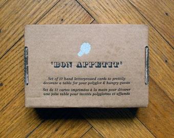 Bon appétit - Letterpressed table tag