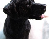 Vintage Black Lab figurine, Black Dog, Collectable Dog, Mans Best Friend, Labrador Retriever