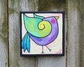 Dancing Bird acrylic on canvas painting