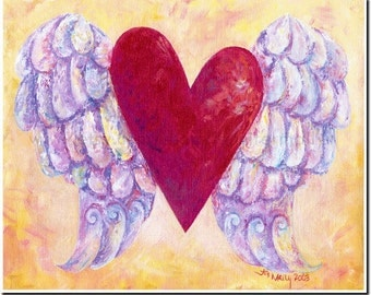 Heart with Wings 8x10 art print