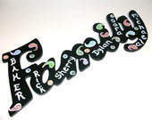 Personalized Wall Hanging Sign Family Names