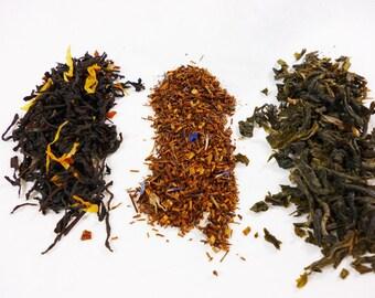 Choose 9 Samples of Tea- black tea - green tea - herbal tea