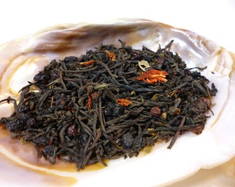 1 oz Midnight Forest Black Tea - Elderberry tea - Dryad Tea