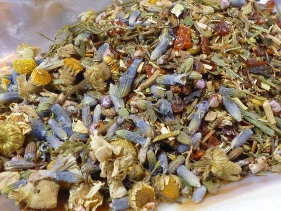 1 oz of Sweet Dreams loose leaf tea - Organic - Caffeine Free - Dryad Tea